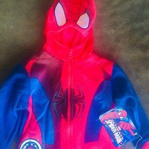 Marvel Spider-Man ZIP UP Kids Hoody New 2T-4T